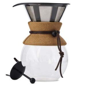Kaffeebereiter aus Borosilikatglas, ideal zur Zubereitung von Bio Kaffee