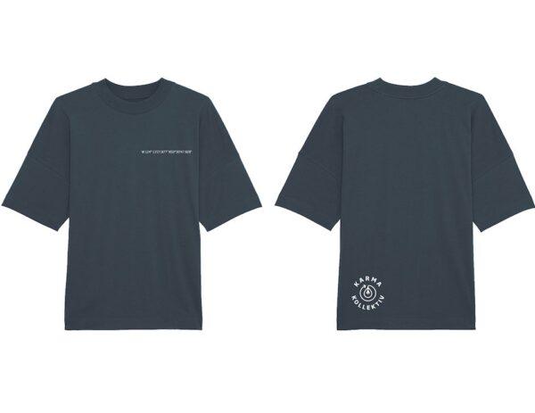 Regenwald T-Shirt, 100% Bio Baumwolle und Fairtrade, Brustprint mit Koordinaten des geschütztes Quadratmeters Regenwald