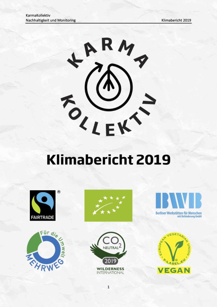 KarmaKollektiv Klimabericht. CO2-Neutrale Produktion von Bio Tee und Bio Kaffee